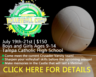 Champions Volleyball Camp at Tampa Catholic High School