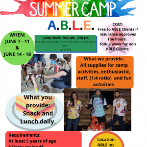 Applied Behavioral Learning Experiences Summer Camp