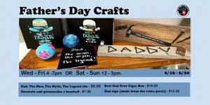 06-/16-06/20 Father's Day Crafts at Creative Junk Therapy