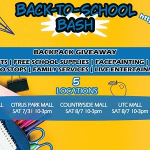 07/31 Florida Penguin's Back to School Bashes - Tampa at Citrus Park Mall