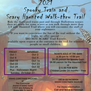 Spooky Train Rides and Scary Trail at The Concourse