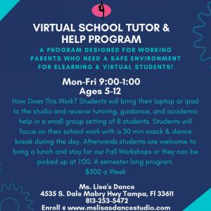 Ms. Lisa's Dance Virtual School Tutor and Help Program