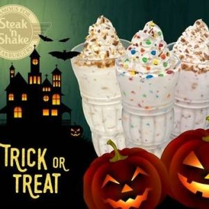 10/31 Steak and Shake Free Shake for Kids in Costume