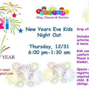 12/31 New Year's Eve Kids Night Out at Playtime Apollo Beach
